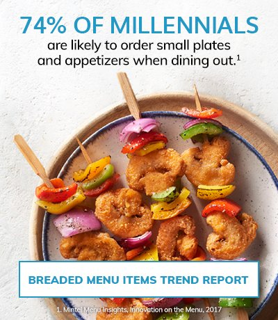 Breaded Menu Items Trend Report