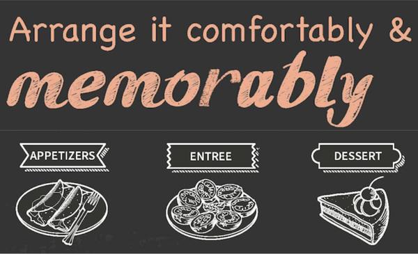 arrange comfortably and memorable appetizer tip